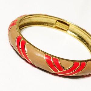 J. Crew • Striped Enamel Bangle Bracelet